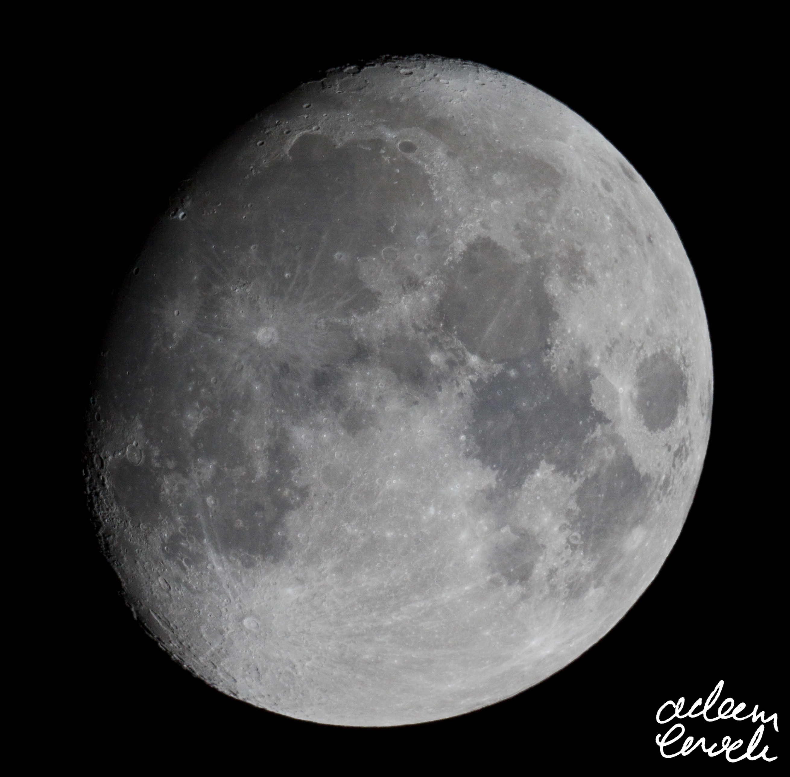 88% Waxing Gibbous - 9th January 2017