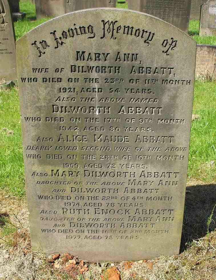 Abbatt Family Grave
